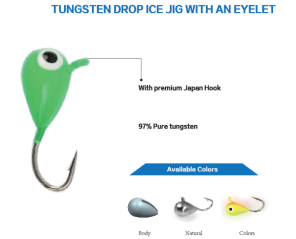 Tungsten Drop Ice Jig With Eyelet
