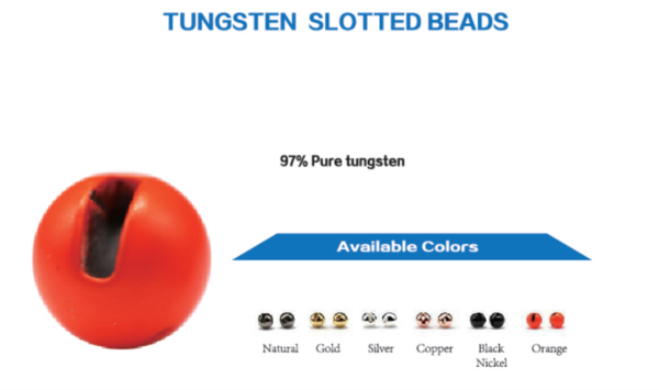 Tungsten Slotted Beads